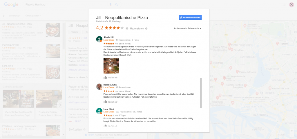 Pizzeria Hamburg Bewertungen