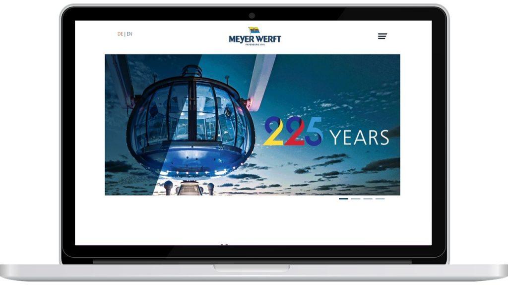 Meyer Werft Bildschirm