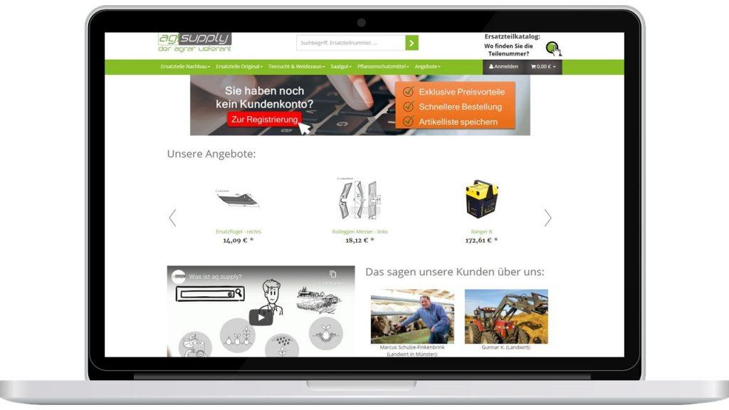 ag.supply Bildschirmfoto