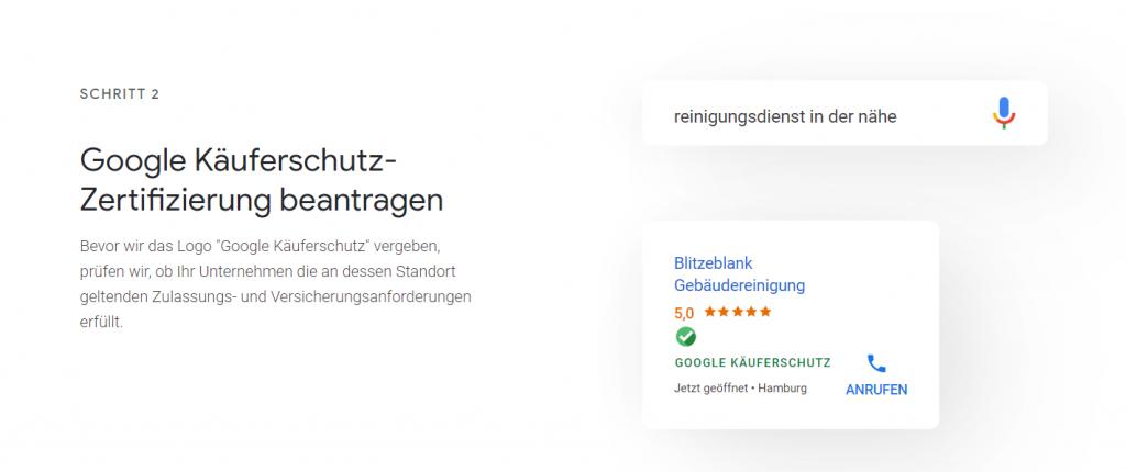 Käuferschutz bei Google