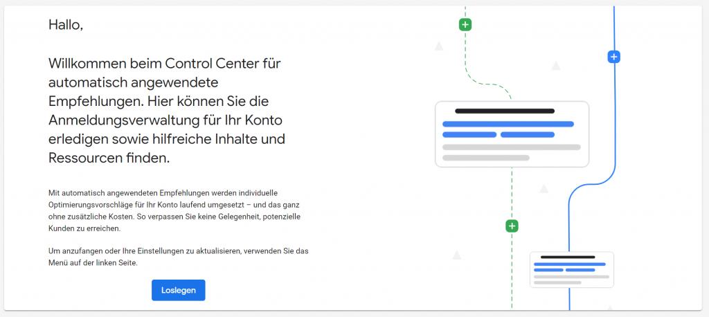 Google Control Center