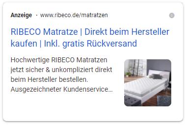 Google Ads Image Extension Vorschau